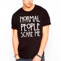 Camiseta Unisex NORMAL PEOPLE SCARE ME