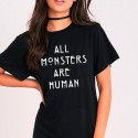 Camiseta Unisex ALL MONSTERS ARE HUMAN