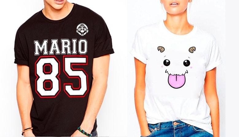 camiseta SuperMario y Panda Kawaii